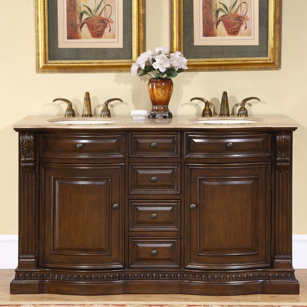 Hedlund 60 Double Bathroom Vanity Set by Three Posts