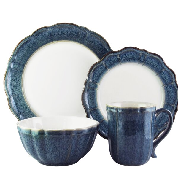 Rearick 16 Piece Dinnerware Set, Service for 4 by World Menagerie