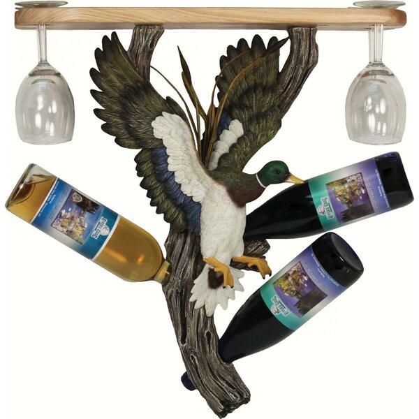 Southwood Mallard 3 Hanging Wine Bottle Rack by Millwood Pines