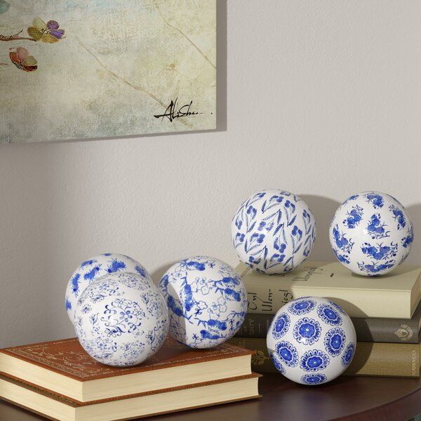 Oriental Design Decorative Balls (Set of 6) by World Menagerie