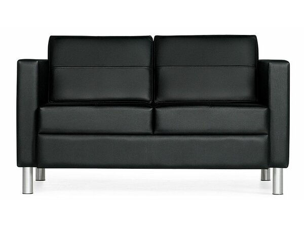 Citi Leather Loveseat by Global Total Office