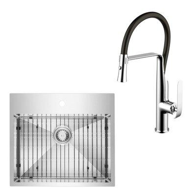 Kitchen Sink Shower Alfi brand 30 x 20 drop in kitchen sink reviews wayfair all in one top mount stainless steel 25 x 22 drop in kitchen sink with faucet workwithnaturefo