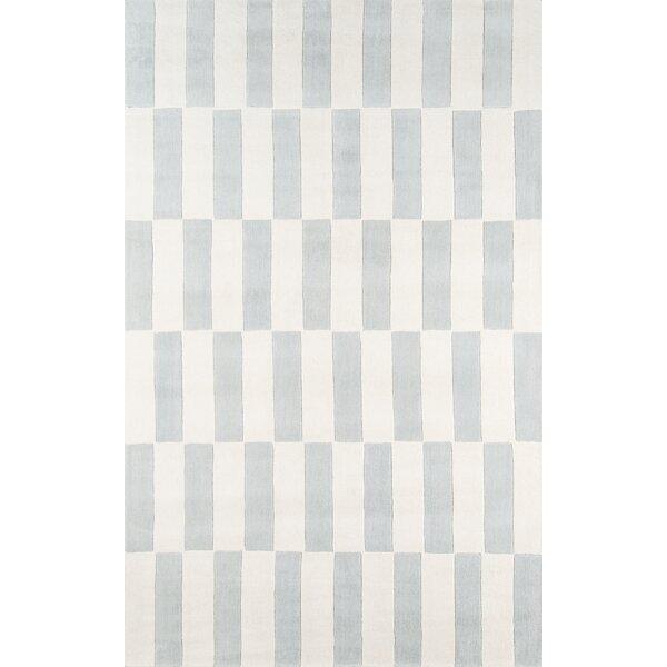 Breaker Hand-Tufted Gray/Blue Area Rug by Novogratz By Momeni
