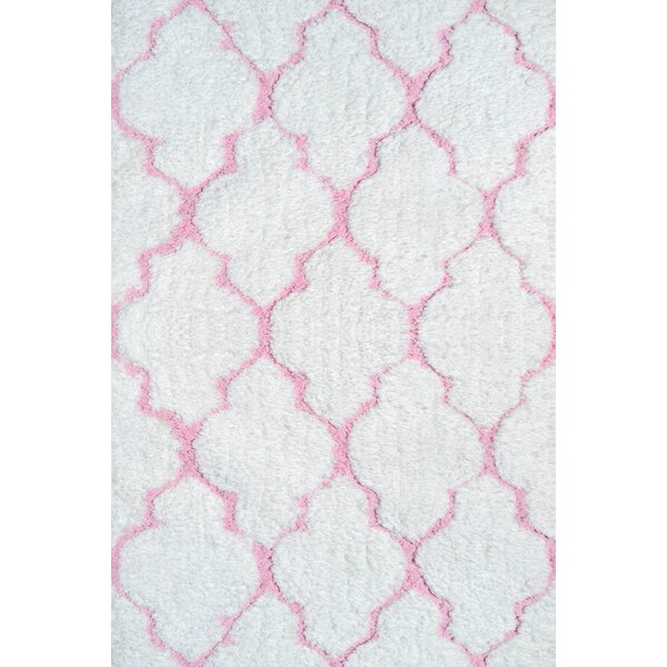 Handmade White/Pink Area Rug by Park Avenue Rugs