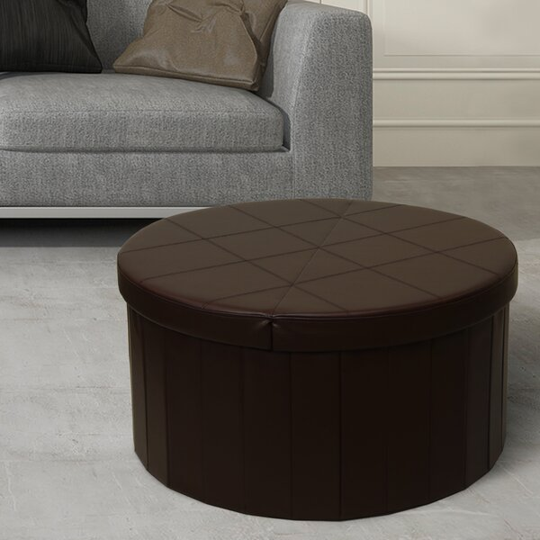 Carrithers Line Folding Storage Ottoman by Winston Porter