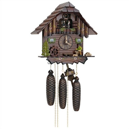 12.5 8-Day Movement Cuckoo Clock with Wood Chopper by Schneider