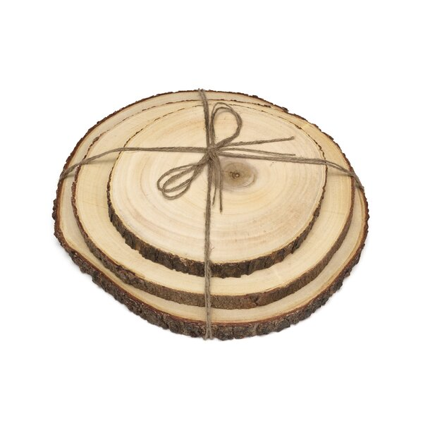 3 Piece Acacia Tree Bark Board Set by Lipper International