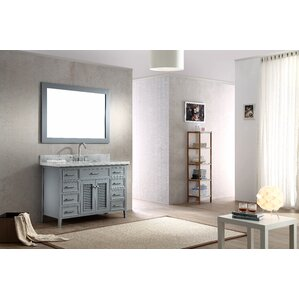 Griffith 49 Single Bathroom Vanity Set With Mirror