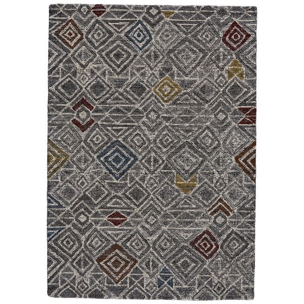 Reger Hand-Tufted Wool Charcoal/Black Area Rug by Bloomsbury Market