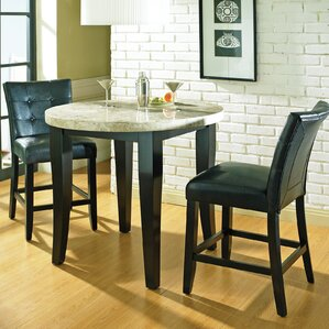 Chloe Counter Height Pub Table Set by Latitude Run