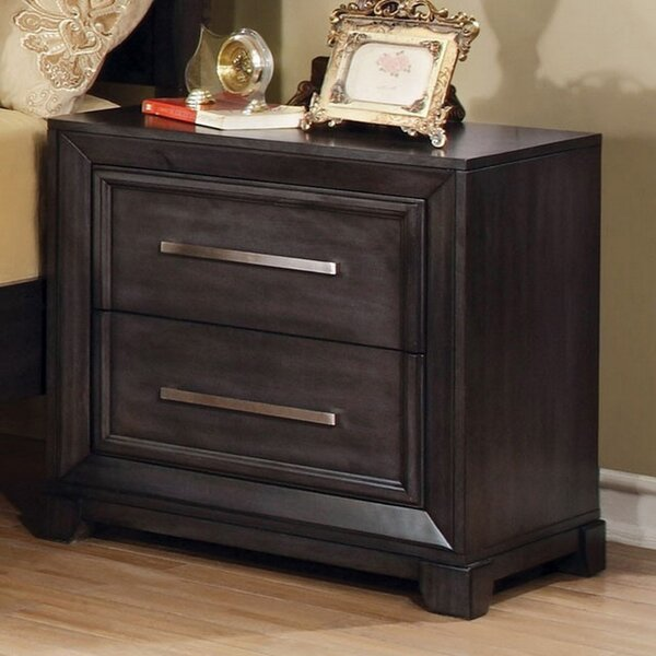 Shallowater 2 Drawer Nightstand by Modern Rustic Interiors