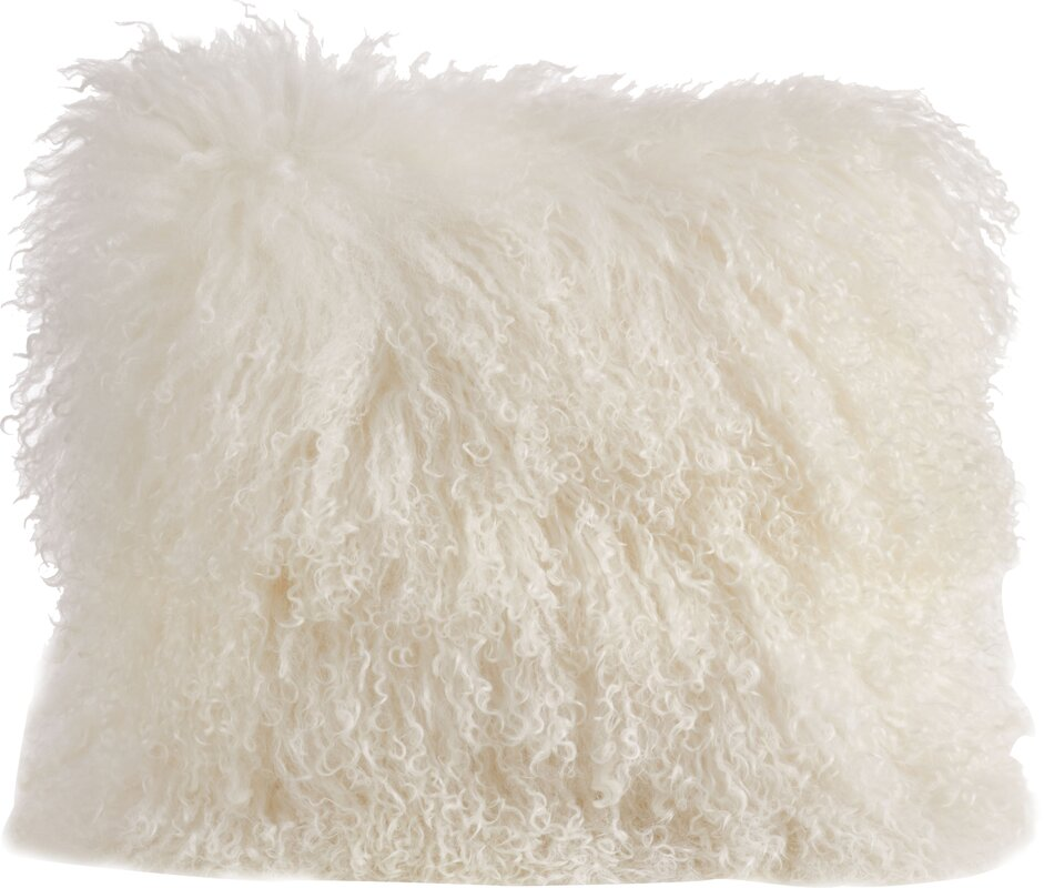 Becky Mongolian Fur Throw Pillow #mongolian #pillow #bohochic #fur