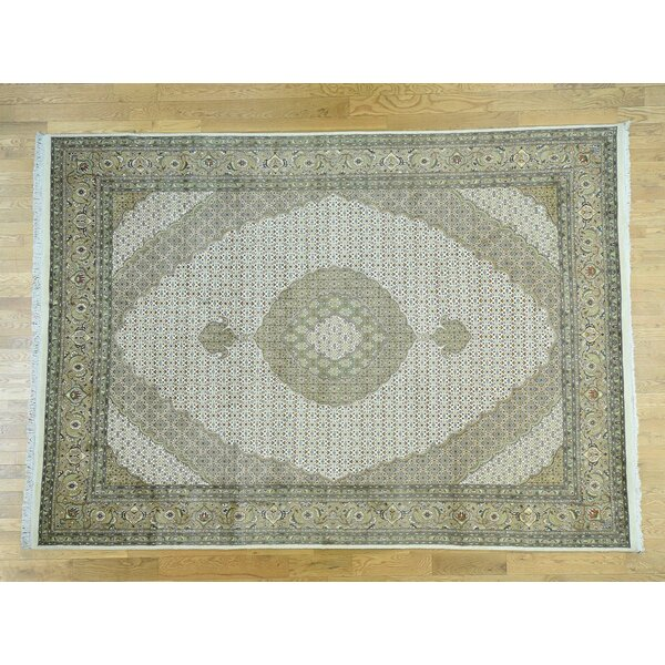 One-of-a-Kind Beaton Pak Handwoven Ivory Wool/Silk Area Rug by Isabelline