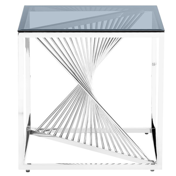 Jeffreys's Glass Top End Table By Everly Quinn