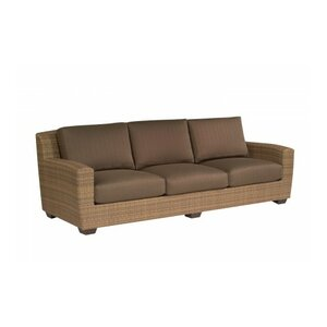 Saddleback Sofa with Cushions Woodard