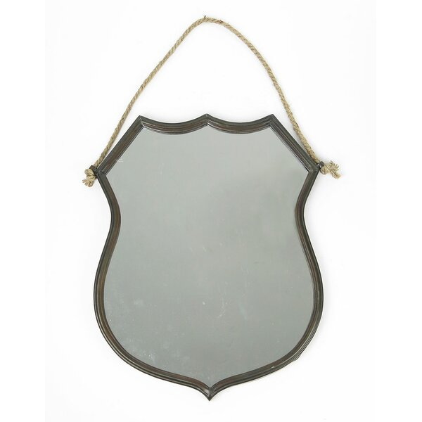 Anakin Hanging Metal Shield Accent Mirror by 17 Stories