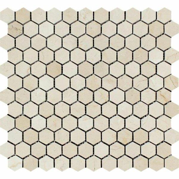 1 x 1 Marble Honeycomb Mosaic Wall & Floor Tile