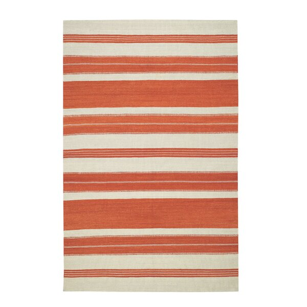 Jagges Stripe Orange Area Rug by Genevieve Gorder Rugs