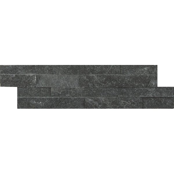 Coal Canyon Natural Stone Mosaic Tile in Black by MSI