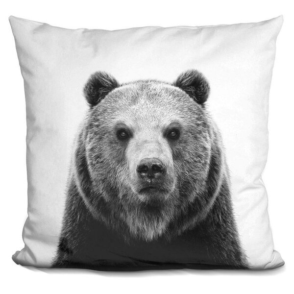 Hofer Bear Throw Pillow by Wrought Studio