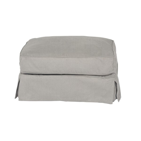 Telluride T-Cushion Ottoman Slipcover by Laurel Foundry Modern Farmhouse