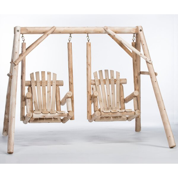 Walden Double Chair Yard Porch Swing with Stand by Loon Peak Loon Peak
