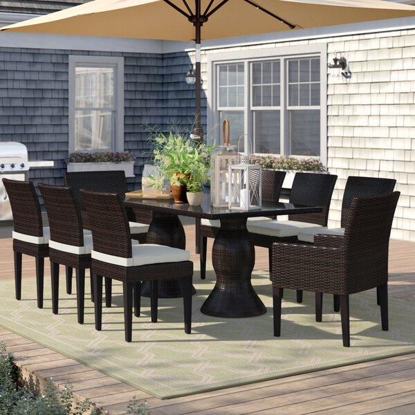 Stratford 9 Piece Dining Set with Cushions by Sol 72 Outdoor