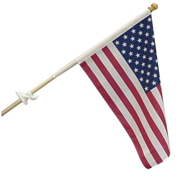 Traditional 2-sided Polycotton 2x3 ft. Rectangle Flag (Set of 2) by Olympus Flag and Banner