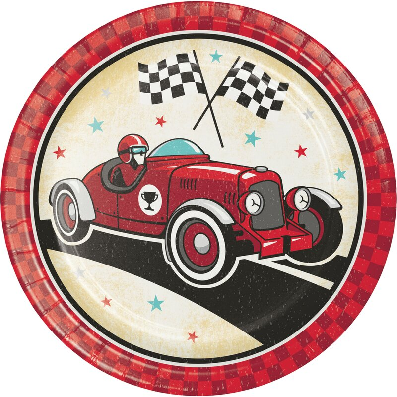 Racing Themed Dessert Napkins /& Plates Party Kit for 8 Creative Converting