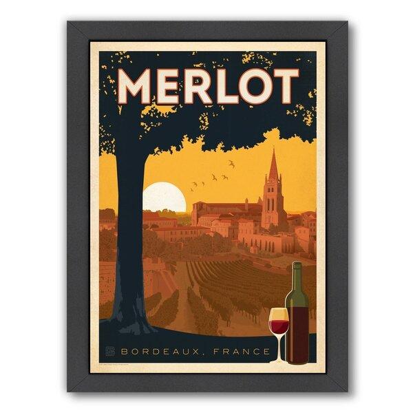Wine Merlot Framed Vintage Advertisement by East Urban Home