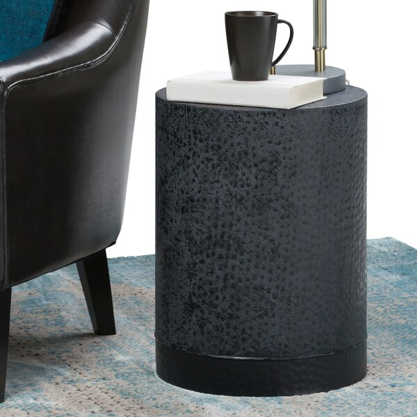 Prunella Metal End Table by Orren Ellis