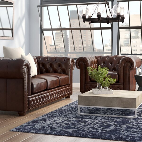 Worcester 2 Piece Leather Living Room Set by Trent Austin Design