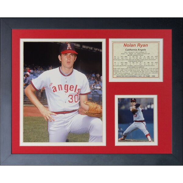 Nolan Ryan - L.A. Angels Framed Memorabilia by Legends Never Die