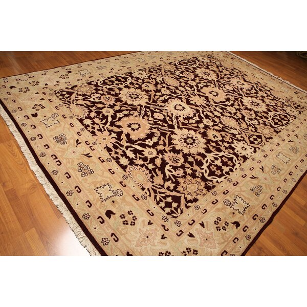 One-of-a-Kind Rawley Hand-Knotted Wool Marine/Beige Area Rug by Astoria Grand