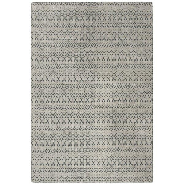 Merriam Hand Tufted Wool Gray Area Rug by Bloomsbury Market