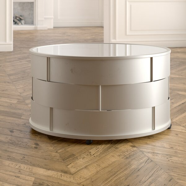 Cliburn Barrel Coffee Table by House of Hampton