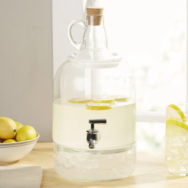 Earl Glass Jug Beverage Dispenser by Mint Pantry