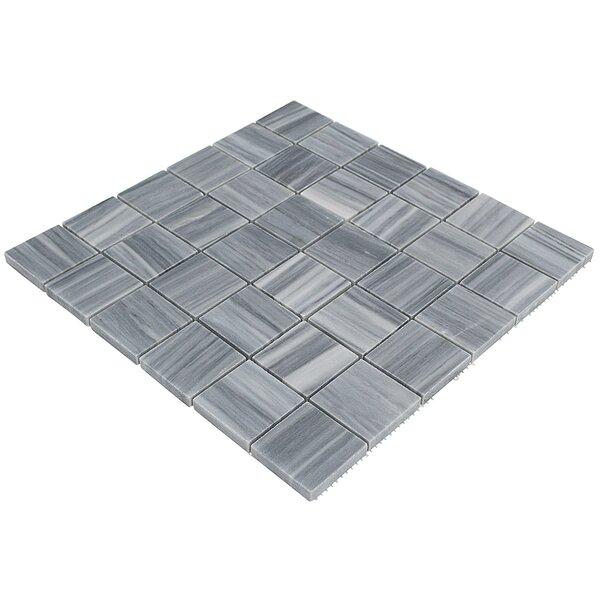 Legano Brick Joint 2 x 2 Marble Mosaic Tile in Gray by Splashback Tile