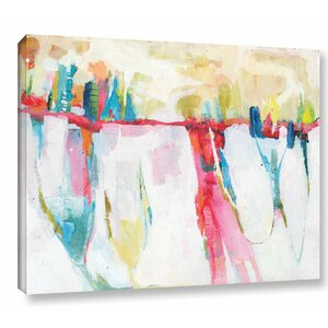 'Cityline Swing' Painting Print on Wrapped Canvas by Mercury Row