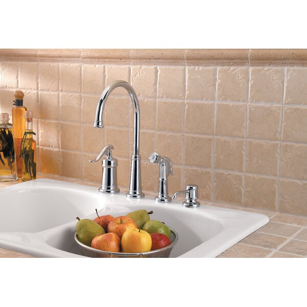 Ashfield Single Handle Kitchen Faucet with Side Spray by Pfister