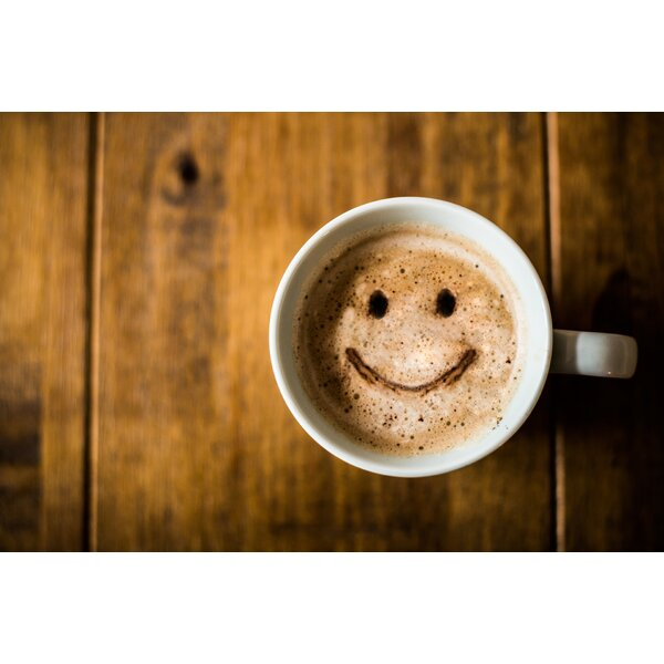 Smiley Coffee Foam Placemat (Set of 4) by East Urban Home