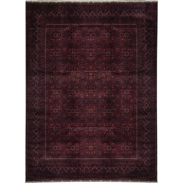 Oriental Hand-Knotted Wool Red/Red Area Rug