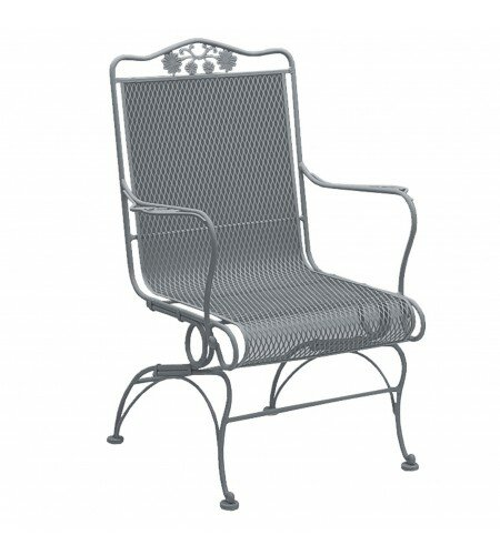 Briarwood Coil Spring High Back Patio Chair by Woodard