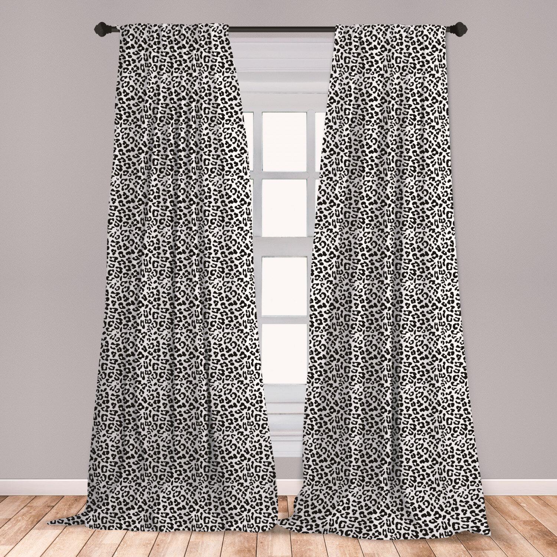 Bithlo Leopard Print Curtains Black
