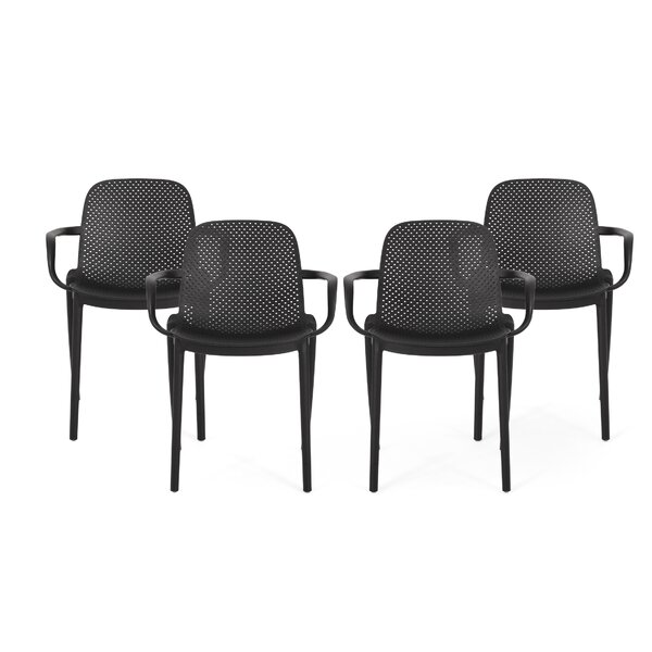 Roxanne Outdoor Stacking Patio Dining Chair (Set of 4) by Ebern Designs