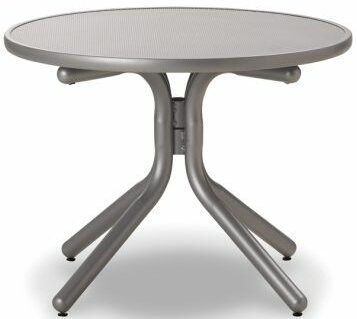 Embossed Aluminum 30  Round Table by Telescope Casual