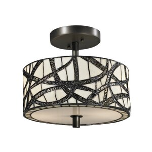 Willow Cottage 2-Light Semi-Flush Mount