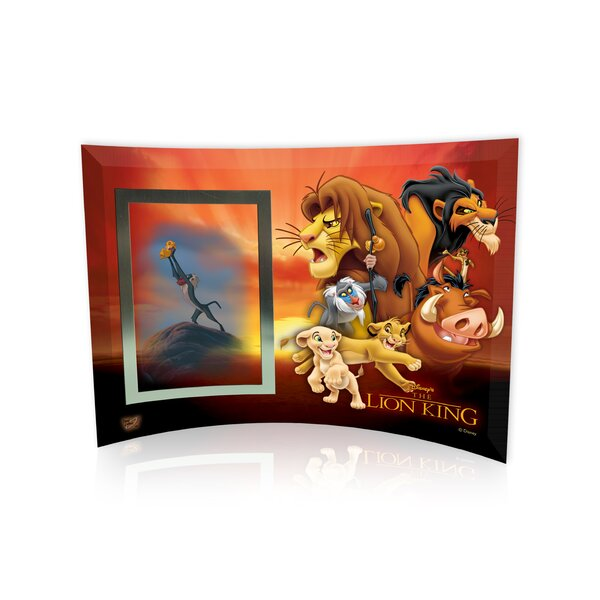 Lion King (Group Collage) Curved Glass Print with Photo Frame by Trend Setters