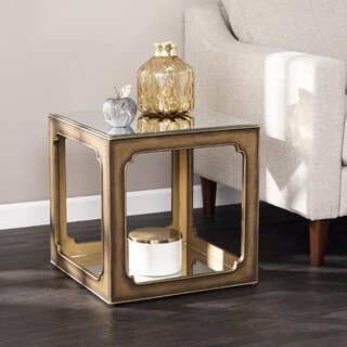Alfriston End Table with Storage by Bungalow Rose SKU:CA336057 Buy