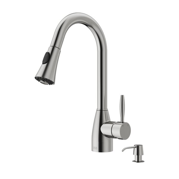 Aylesbury Pull Down Single Handle Kitchen Faucet with Optional Soap Dispenser by VIGO